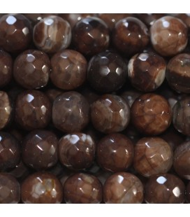 BeauMonde Jewelry - Agate 8 mm round faceted bead