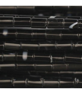 Agate black 5/6x3 mm rounded tube