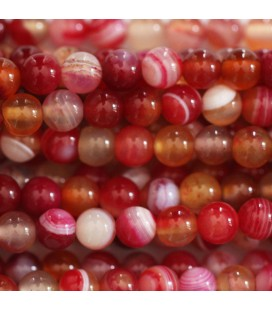 Agate 6 mm perle ronde