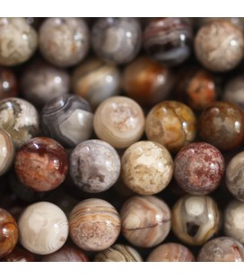 BeauMonde Jewelry - Agate 8 mm round bead laguna lace Mexico