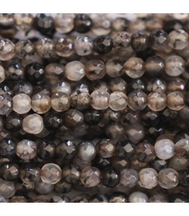 BeauMonde Jewelry - Agate 4 mm round faceted bead