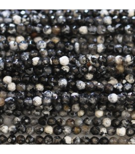BeauMonde Jewelry - Agate 3 mm round faceted bead