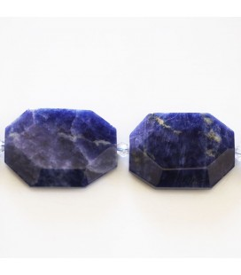Sodalite 24x34 mm environ hexagonal