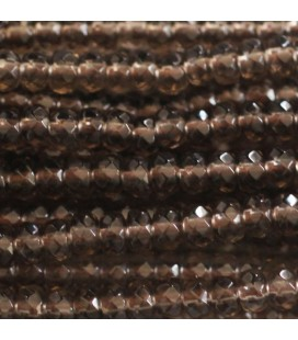 BeauMonde Jewelry - Smoky quartz 3x4 mm faceted washer