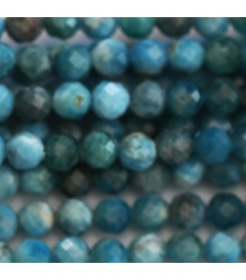 BeauMonde Jewelry - Apatite 4 mm mixed faceted round bead