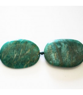 BeauMonde Bijoux - Amazonite 34x24 mm ovale plat Russie