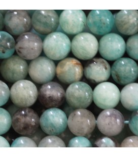 BeauMonde Bijoux - Amazonite 8 mm perle ronde mixte Madagascar