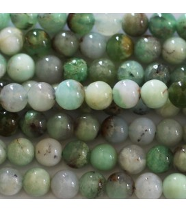 Chrysoprase 6 mm perle ronde