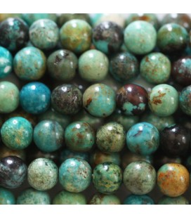 Turquoise 8 mm perle ronde mixte