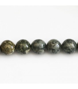 BeauMonde Jewelry - Jasper 10 mm round grey bead gray sustained