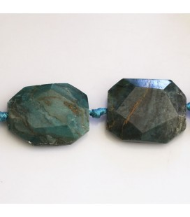 Chrysocolle 32x24 mm environ hexagonal