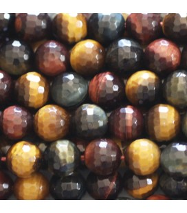 BeauMonde Jewelry - Tiger/bull/falcon eye 8 mm round faceted bead