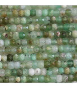 BeauMonde Jewelry - Chrysoprase 3x4 mm faceted washer