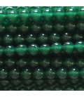 Agate 6 mm green round pearl