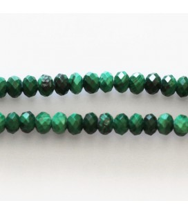 Malachite 2x3 mm faceted washer Africa