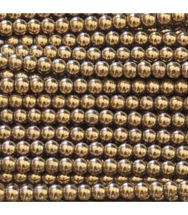 Hematite 2 mm golden round bead
