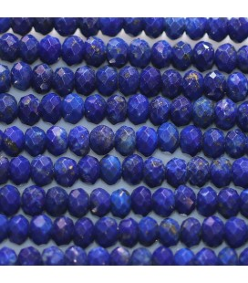 BeauMonde Jewelry - Lapis lazuli 2X4 mm faceted washer Afghanistan