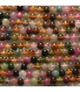 BeauMonde Jewelry - Mixed tourmaline 3 mm round bead A