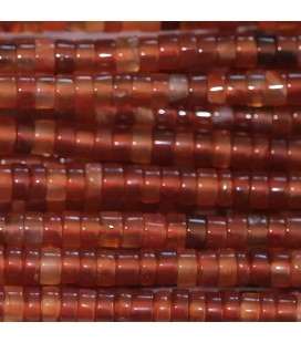 BeauMonde Jewelry - Cornelian 2X4 mm washer heishi natural straight Madagascar