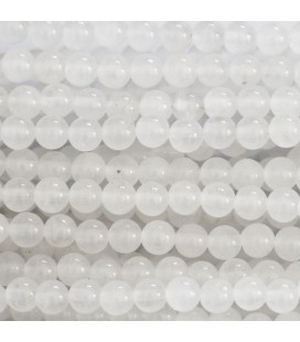 Jade white 4 mm translucent round bead