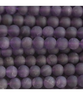 BeauMonde Jewelry - Amethyst 6 mm matte round bead