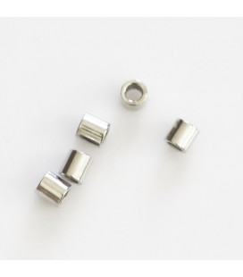 Tube smooth 3 mm silver-plated