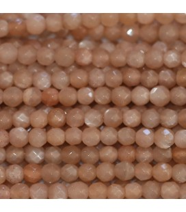 Sun stone 4 mm bead round faceted