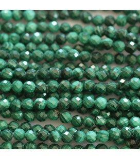 BeauMonde Jewelry - Malachite 4 mm round faceted bead Africa