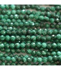 Malachite 4 mm round faceted bead Africa