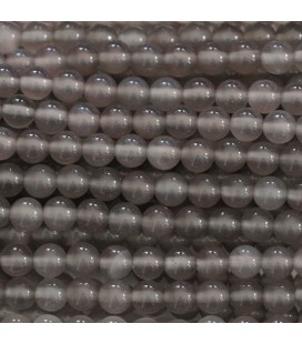 Agate grey round pearl 6 mm