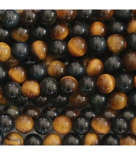 Tiger/falcon eye 6 mm round bead Africa