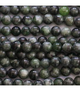 BeauMonde Jewelry - Diopside chrome 6 mm round bead Finland