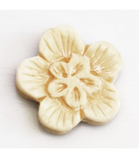 BeauMonde Jewelry - Flower bone 28 mm thickness about 8 mm