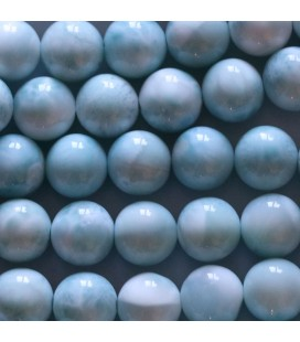 BeauMonde Jewelry - Larimar 8 mm round bead quality A