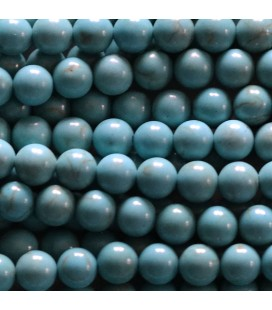 Howlite 6 mm turquoise round pearl