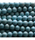 BeauMonde Jewelry - Howlite 6 mm turquoise round pearl