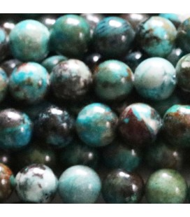 Chrysocolle 8 mm perle ronde
