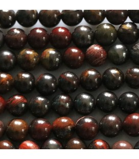 Red iron eye 6 mm round pearl
