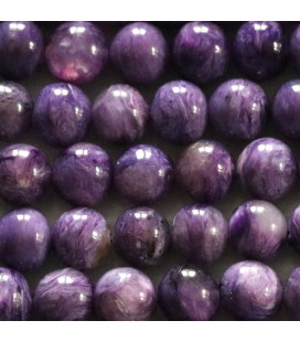 BeauMonde Jewelry - Charoite 8 mm round bead quality A Russia