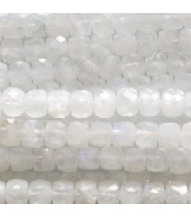 BeauMonde Jewelry - Moonstone 4X4 mm faceted white square