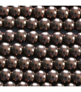 Hematite 6 mm round copper bead hole about 2.5 mm