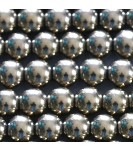 BeauMonde Jewelry - Hematite 8 mm round silver bead hole about 2 mm