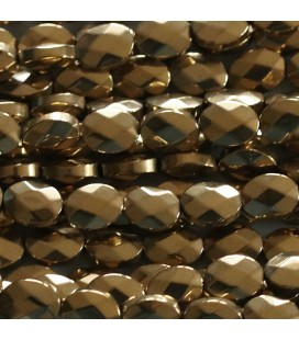 BeauMonde Jewelry - Hematite 6X8 mm faceted golden oval