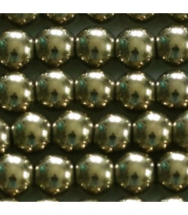 BeauMonde Jewelry - Hematite 8 mm round golden bead hole about 2 mm