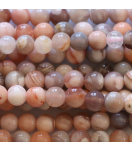BeauMonde Jewelry - Agate pink 4.5/5 mm round bead Botswana