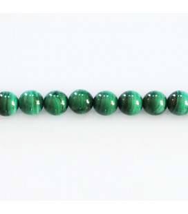 Malachite 5.5/6 mm round bead Africa