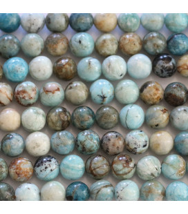 Opal Africa 6 mm blue round bead