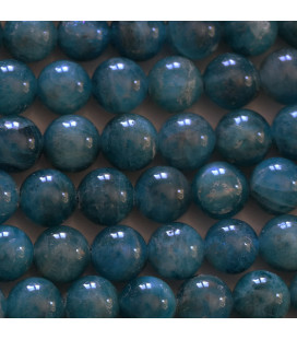 BeauMonde Bijoux - Apatite 8 mm perle ronde mixte medium