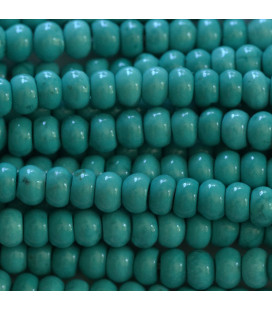 BeauMonde Jewelry - Howlite 4x6 mm rounded washer turquoise dark tone