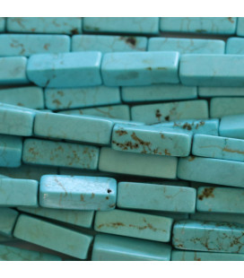 BeauMonde Jewelry - Turquoise tinted 13x4 mm rectangle
